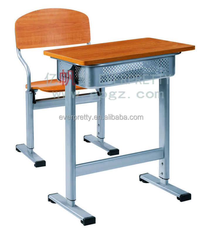 Single student desk with chair set classroom exam table