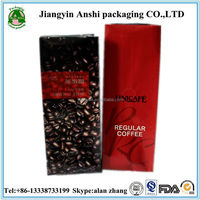Laminated material aluminum foil bag for coffee packaging air tight valve