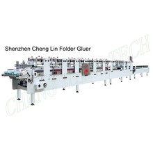 Shenzhen chenglin automatic 4 6 corner folder gluer machine only for plastic