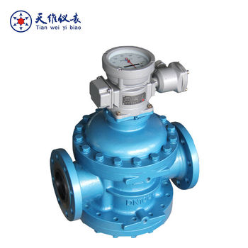 Crude oil spiral rotor flow meter for high viscosity