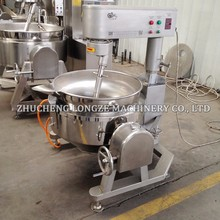 Gas Type semi automatic jam sauce curry cooking mixer 50L