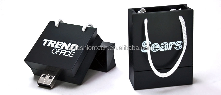 Custom PVC Shopping Bag USB flash drive