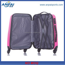 20 24 28 inch ABS+PC suitcase with tsa lock trolley case/ aluminum frame luggage