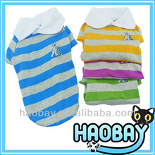Cute Style Colorful Strips T-Shirt Wholesale Dog Clothes And Accessories