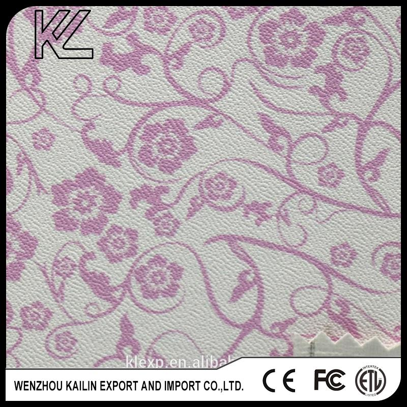 Perforated pattern 100% pu leather fabric made in China