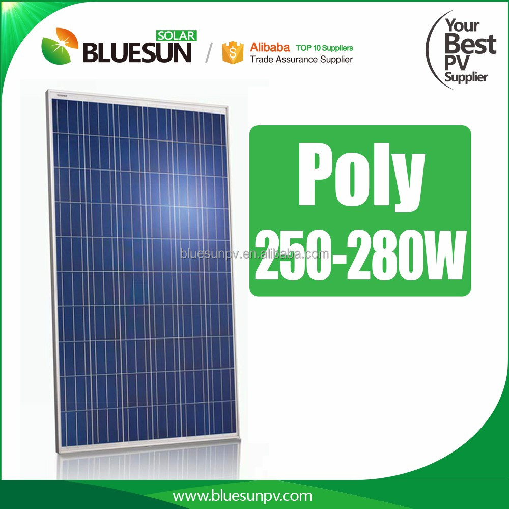 Hot sales poly 260w soalr panel of 1 kw solar panel system for home