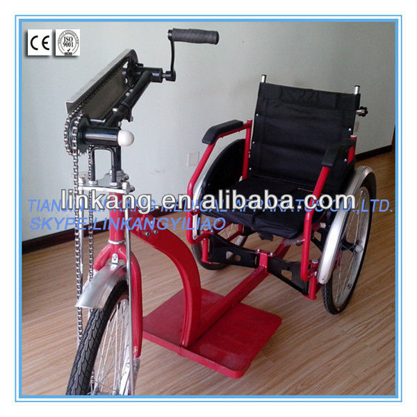 Folding manual&electric tricycle wheelchair