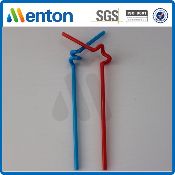 high quality disposable plastic crazy artistic drinking straw