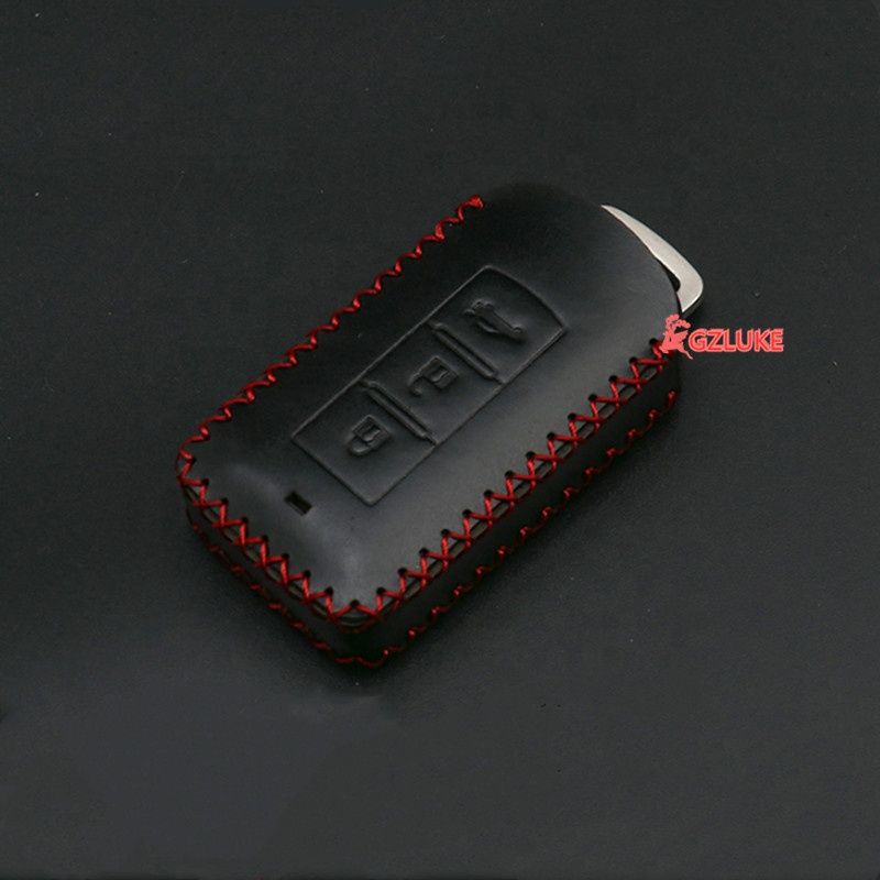 Leather Car Key Cover Case Car Key Bag fit for Mitsubishi Smart 3 Buttons Key