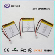 3.7V portable 110v battery pack bluetooth lithium polymer battery
