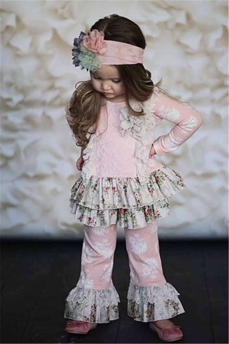 wholesale ballet dance printing giggle moon remake clothes for kids