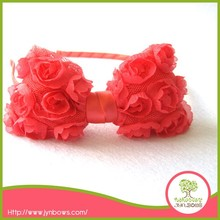 Headband & Large Light Pink Removable flower Bow with Alligator clip