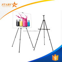Free Samples Trade Assurance Black Iron Triangle Display Stand , Tripod Poster
