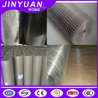 China professional factory galvanized wire mesh 1/2 inch square hole welded wire mesh