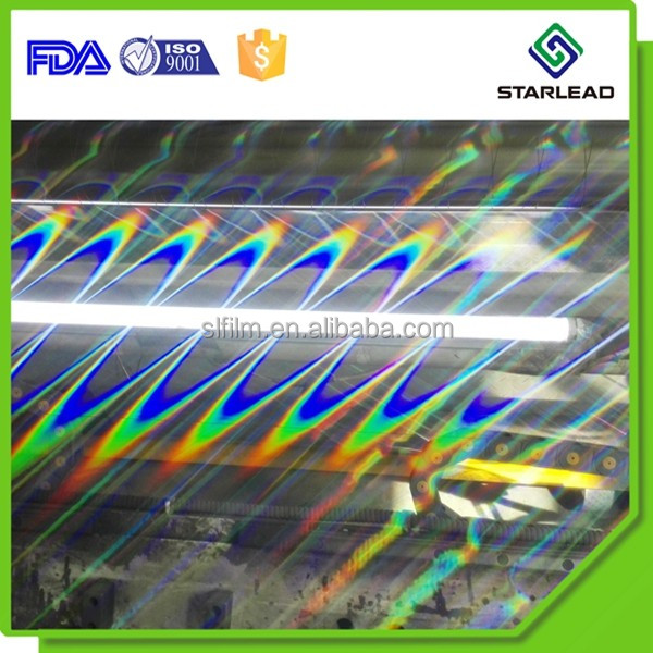 Good Quality ZnS Coated PET Transparent Holographic Film Both Lamination and Transfer Type Available