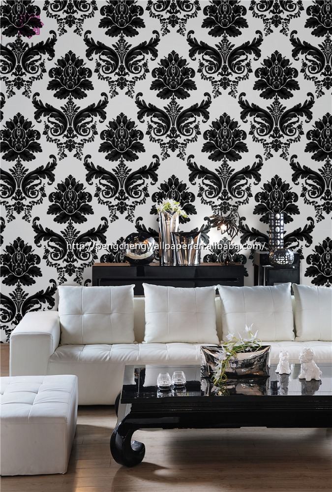 Latest design thick vinyl wallpaper royal palace wallcovering for home