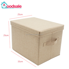 Simple collapsible storage organizing containers folding clothing storage box & bins with lids