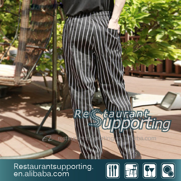 Wholesale Fabric T/N Cooking Pants for Restuarant Waiter/Waitress