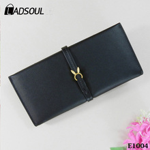 Factory Outlets Fashion Women Long Cute Buckle Purse Wallet