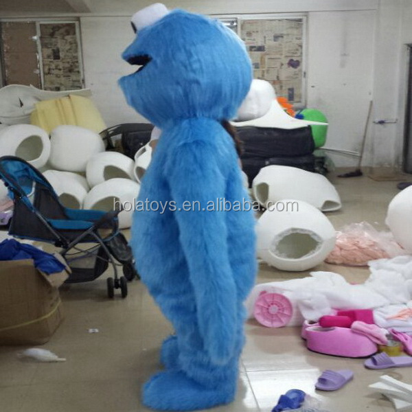 Hola halloween costume/cookie monster costume/mascot costume
