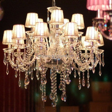 Decorative cheap 15 Lights LED Crystal Glass Chandeliers Lighting Wedding decorations