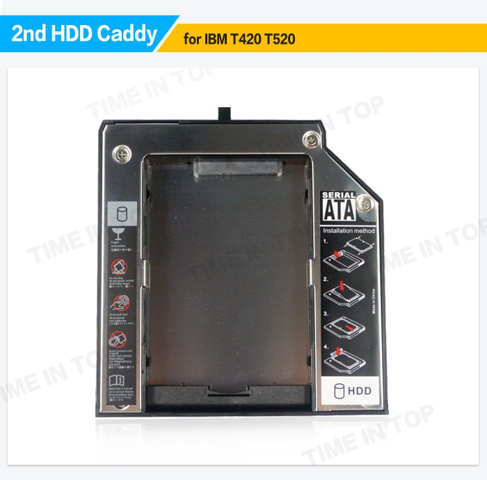 2nd SSD Hard Disk Drive Caddy for Thinkpad W520