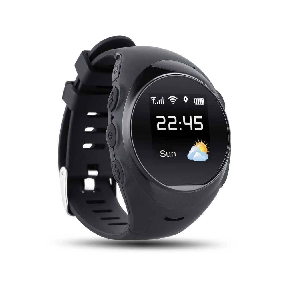 SOS one key to help prevent fall alarm GPS positioning smart watch, waterproof the elderly smart