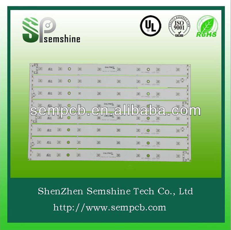 White solder mask and 1.6mm board thickness single sided aluminum base led pcb, led circuit board