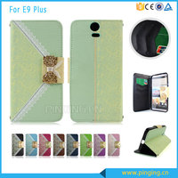 Wallet style bowknot Lady handbag mobile phone case for htc one e9 plus flip leather case