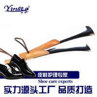 Factory direct sales wooden hand stainless steel shoe horn