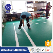 High quality pvc plastic mat/pvc badminton floor with the 1.2mm durable layer