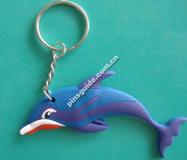 custom animal shape soft pvc rubber keyring Keychain