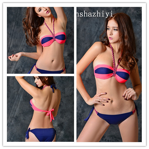 sexy beautiful girl halter fashion bikini beachwear