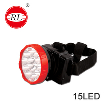 RL-1023 led head lamp 15LED 1.5W led light/moving head light/ rechargeable battery/ led head torch/ camping/fishing