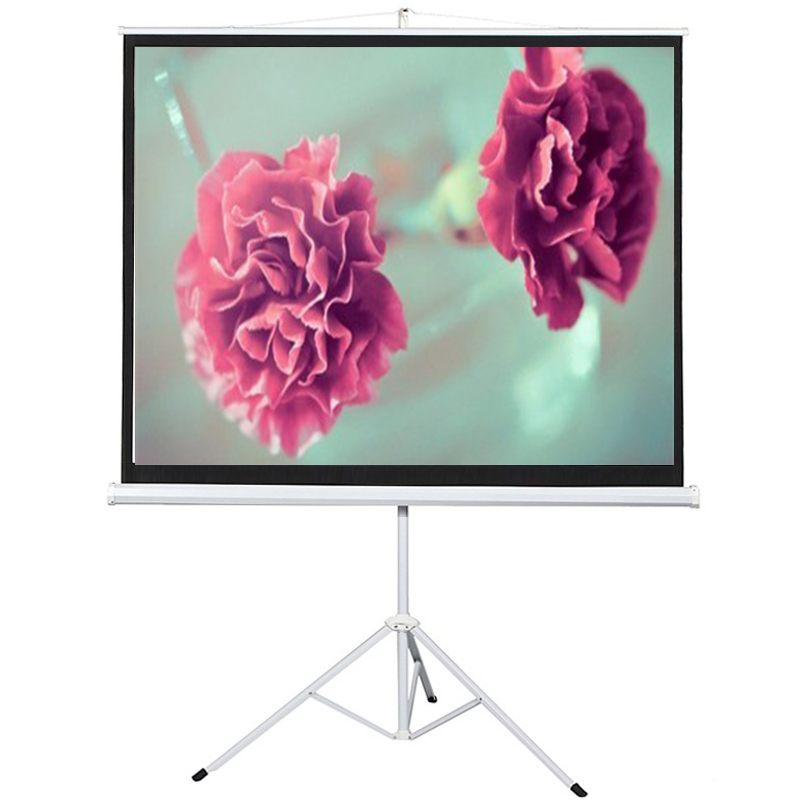 Floor stand tripod projector screen easy to set up