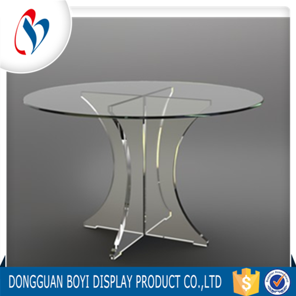 New Acrylic Table Plexiglass Round Transparent Acrylic Furniture Cheap