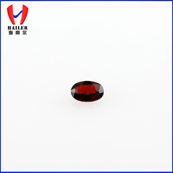 High quality oval cut natural garnet for jewelry