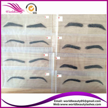 stocks available, 100% human hair hand-tied eyebrow wig