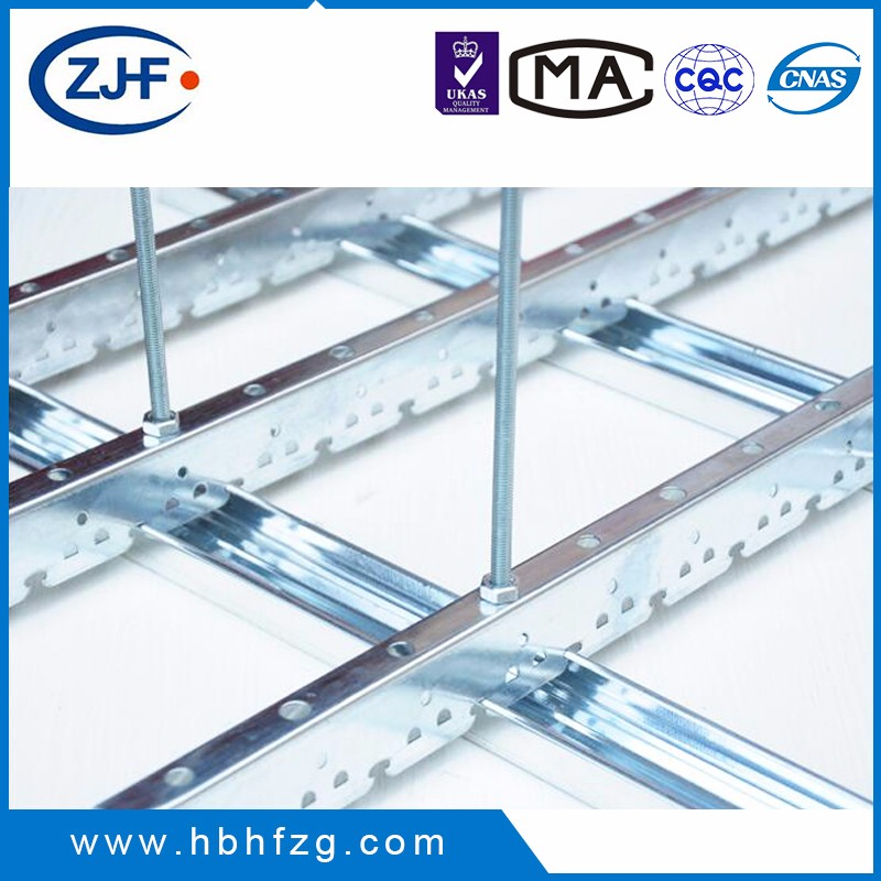 Galvanized lightgage steel joist suspended bar for partition system