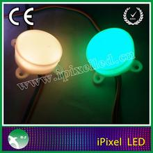 Merry Christmas!!!programmable 45mm diameter ws2801 rgb led pixel string light