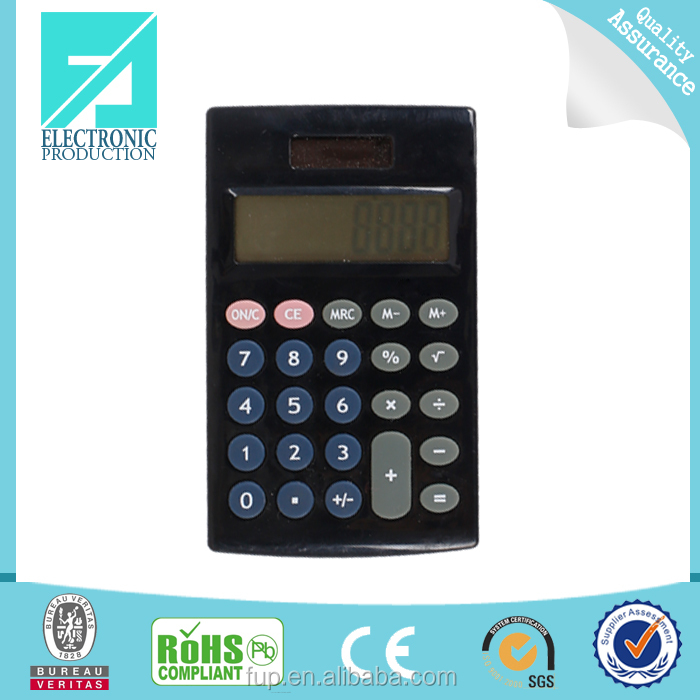 Fupu 8 digit dual power calculator mini desk top calculator for pupil