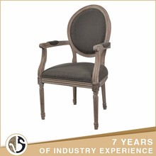 Wholesale burly gray fabric upholstered vintage chair garden