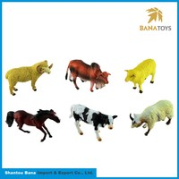 Hot selling indoor plastic farm animal toys