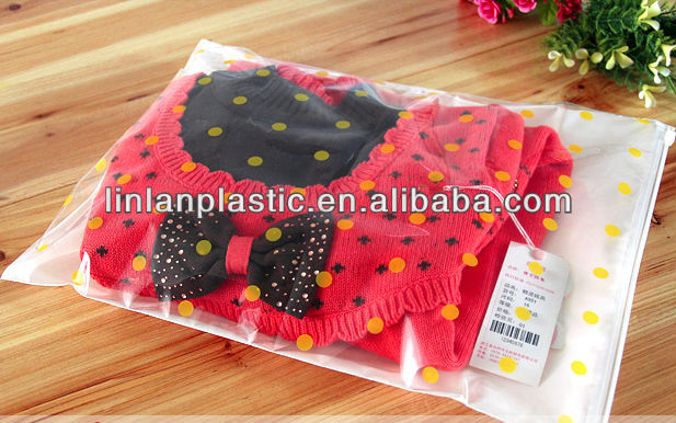 Reuseful zipper slider garment,apparel,clothing plastic bags