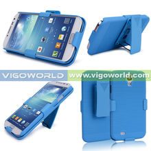 Holster Case for Samsung i9500 galaxy s4 rubber painted with stand and belt clip