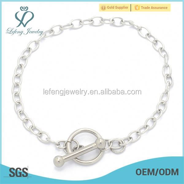 Discount mens stainless steel jewelry chain bracelet for glass floating charms locket pendant