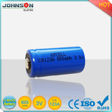 CR123A 1400mAh non-rechargeable lithium ion battery for