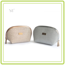 Glitter Shell Shape Pu Leather Premium Cosmetic Bag For Ladies