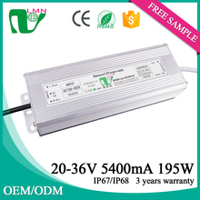 OEM /ODM Low price constant current metal housing 36V 5400ma led power supply