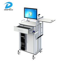 Customized Color Hospital Endoscopic Computer Trolley